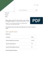 Keyboard Shortcuts for Visio Visio