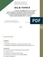 Arte Plastice_material Științific_limbaj Și Tehnică