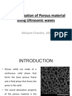 Characterization of Porous Material Using Ultrasonic Waves