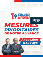 21 Mesures Prioritaires de l'Alliance Nationale