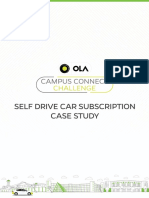Self Drive Car Subscription Case Study