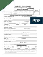Admission Form Vv New