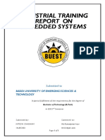 Industrial Training Report on Embedded system