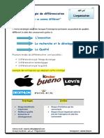 Cours La Stratégie de Différenciation LOrganisation Des Entreprises Par Mr Labiad Zakaria
