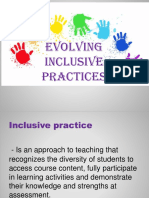 EVOLVING INCLUSIVE PRACTICE AND VISION, POLICY AND GOAL OF SPECIAL EDUCATION