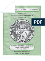 Business Mathematics L 1 9