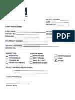 KB Client Profile Form