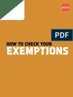 Exempt Userguide