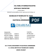 Rotor earth fault protection of generator