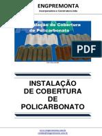 Instalação de Cobertura de Policarbonato