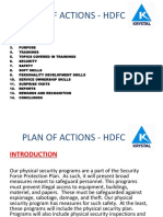 Plan of Action HDFC