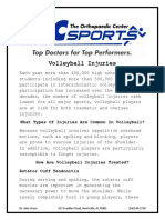 volleyball common injuries