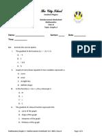 2. Reinforcement Worksheet - Graphs 2