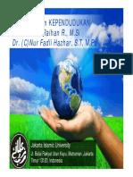 MHUID TM-3-4 Penyajian Statistika Kependudukan Dan Ekonomi