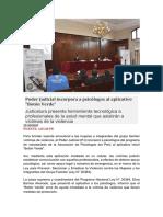 Poder Judicial incorpora a psicólogos al aplicativo