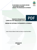 Projeto Leitura e Letramento Literário