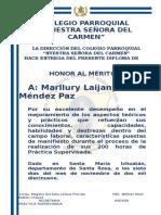 Diplomas de Reconocimiento Practica 2019
