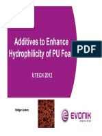 Additives to Enhance Hydrophilicity of PU Foam