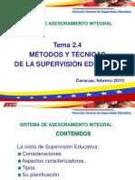 METODOS Y TECNICAS DE LA SUPERVISION EDUCATIVA
