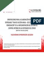 Orientaciones SCI Para El 2do Entregable Plan Remediación