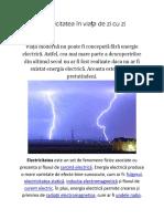 Electricitatea În Viața de Zi Cu Zi