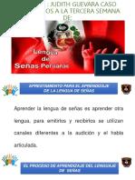 JUDITH Semana Tres Lengua de Señas