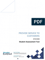SITXCCS006 Student Assessment Tool