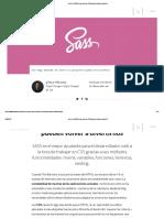 Qué Es SASS y Por Qué Los CSS Pueden Volver a Divertir