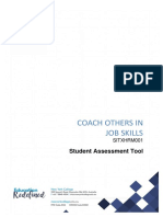SITXHRM001 - Student Assessment Tool