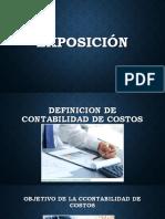Definicion de Contabilidad de Costos Exposicion