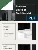 Business Ethics of Bank Mandiri