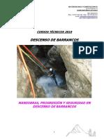 F.tecnica Curso Descenso de Barrancos 2019