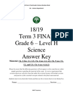 1819 Suli PPP Term 3 Final Grade 6 Science Revision Sheet Answer Key