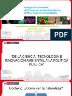 Mecanismos de Promocion de Investigación Ambiental-Ciencia Para La Sostenibilidad