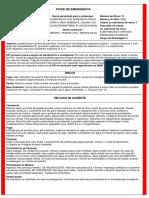 Ficha de Emergência - FET - Tenopa®