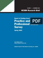 NCSBN Research Brief Vol 7 Nurse Managment Current Events
