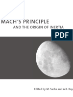 M. Sachs, A.R. Roy Mach's Principle and the Origin of inertia