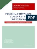 Programa de Movilidad Académica y de Investigación-2014