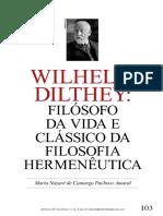 Vista Do Wilhelm Dilthey_ Filósofo Da Vida e Clássico Da Filosofia Hermenêutica
