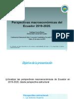 Perspectivas Macroeconomicas Ecuador 2019