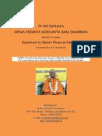 Sarva Vedanta Siddhanta Sara Sangraha (Commentary by Swami Paramarthananda)