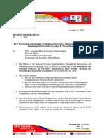MEMO DCP Orientation