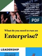 What Do You Need to Run an Enterprise