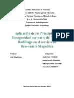 Aplicación de Los Principios de Bioseguridad Por Parte Del Técnico Radiólogo en El Servicio de Resonancia Magnética