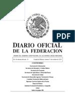 Diario Oficial de la Federación Mexicana 25102019
