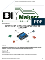Sensores en Entradas Analógicas de Arduino