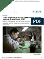 España Casi Duplica Los Alumnos de FP en 10 Años, Pero Sigue Por Debajo de La Media de La OCDE _ Sociedad _ EL PAÍS