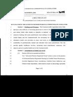 Amendment to Nurse Practice Act