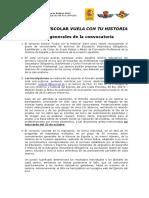 Concurso Escolar Vuela Con Tu Historia. Ejército Del Aire (Ministerio de Defensa). Bases (PDF)