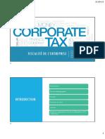 Fiscalité entreprise 2019-2020